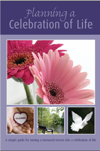 Downloadable book, planning a life celebration