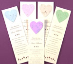 Plantable Bookmarks with Hearts