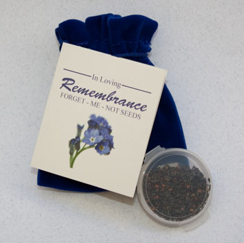Seed packets memorial gift