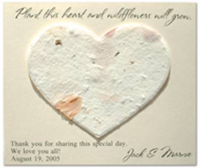 Plantable Heart Memorial Card